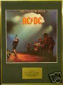 AC/DC -  Let There Be Rock -  Framed LP Cover